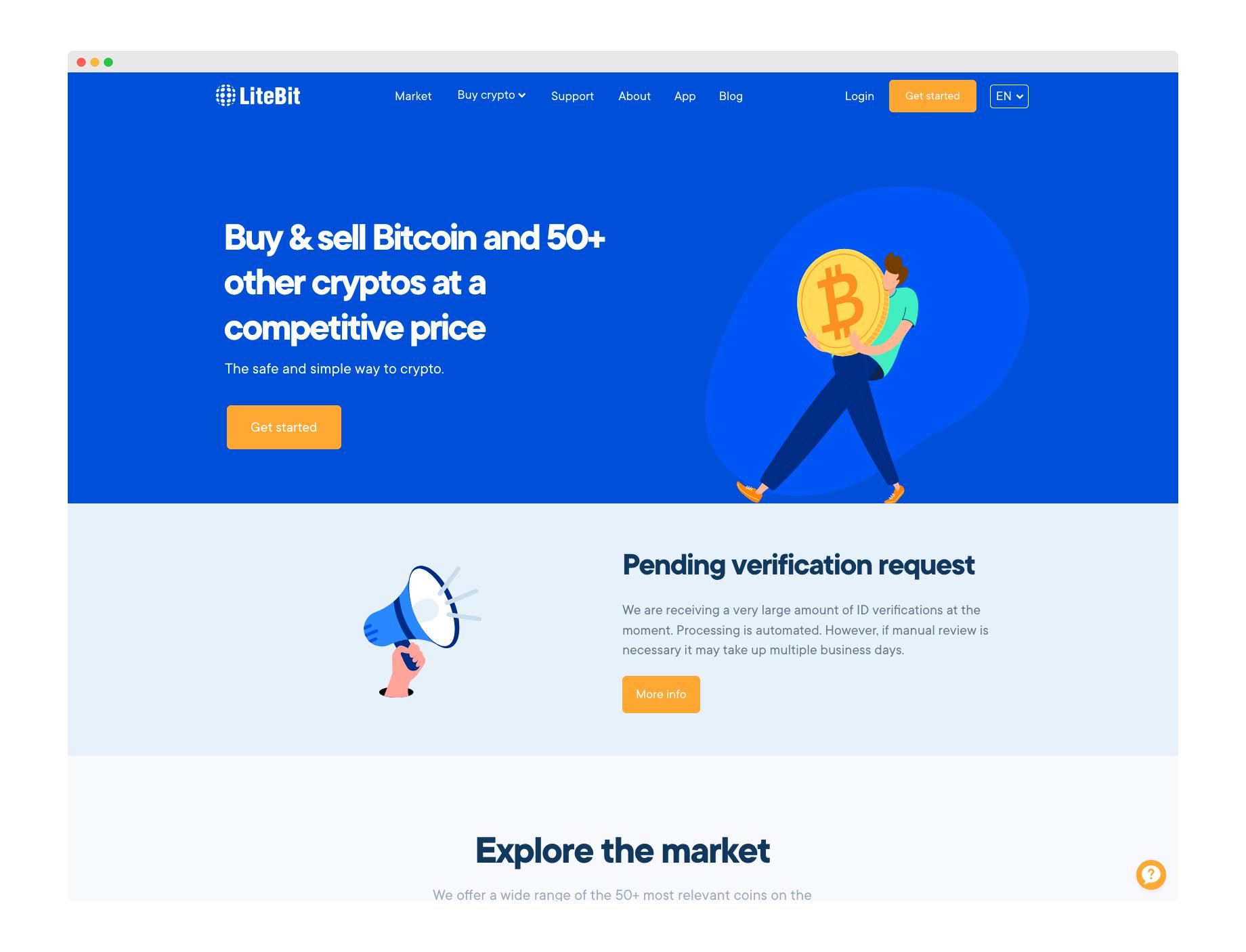 Litebit Webseite